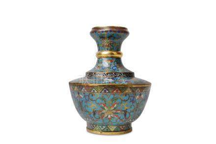 A CHINESE CLOISONNE 'BAJIXIANG' VASE.