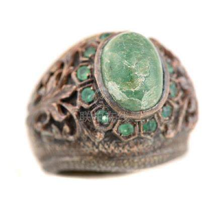 Maggie Hayes Emerald, Silver Ring.
