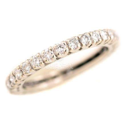 Diamond, 14k White Gold Eternity Band.
