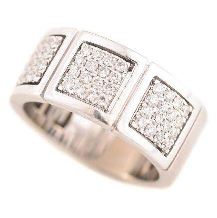 Men's Diamond, 14k White Gold Ring.