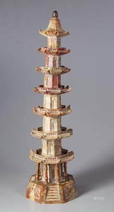 A Chinese soapstone pagoda