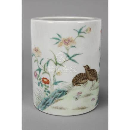 Wonderful Chinese Porcelain Brush Pot,