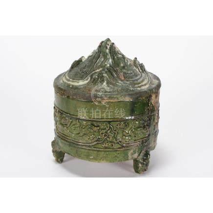 "Chinese Han Dynasty (206 BC–220 AD) ""Hill"" Jar"