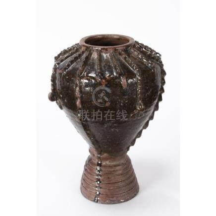 Early Chinese Black Glazed Vase,