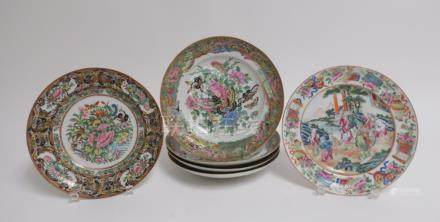 Group of 6 Chinese Export Plates