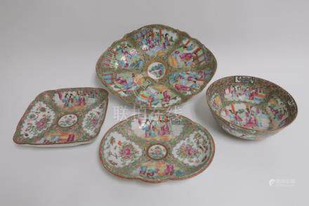 (4) Chinese Rose Medallion Serving Dishes