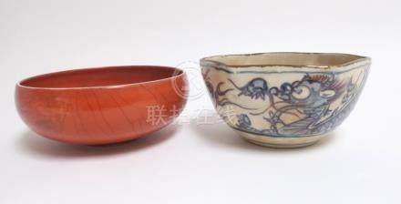 Two Japanese Pottery Bowls