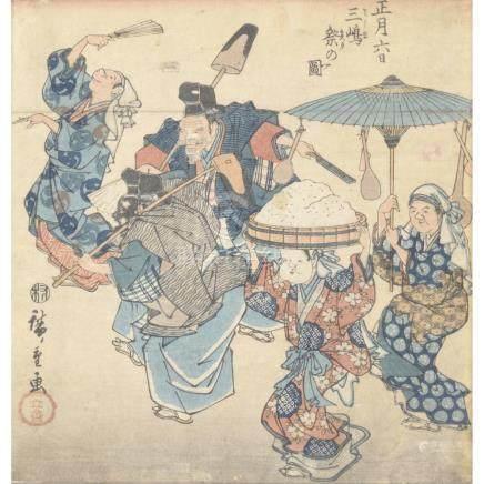 LOT DE TROIS ESTAMPES par Utagawa Hiroshige (1797-1858), la