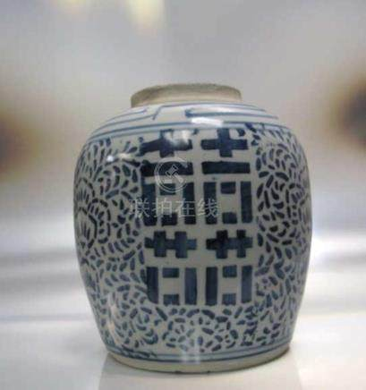 0th Century Early Qing Dynasty Blue and whiteJas
