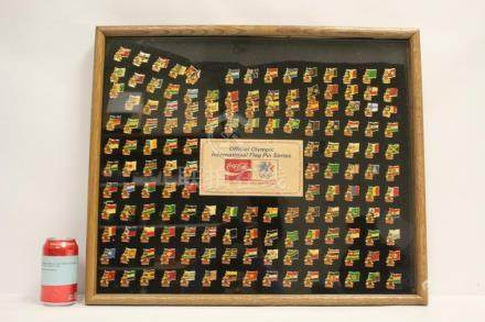 Panel of 1984 LA Olympic pins