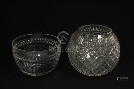 2 large Waterford bowls
