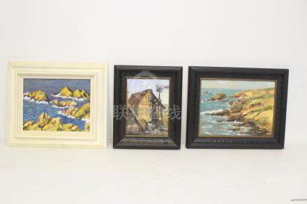 3 oil on canvas paintings