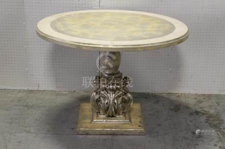 Silver gilt round center table