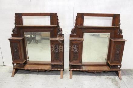 2 Victorian floor mirror