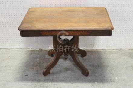 Victorian walnut low table