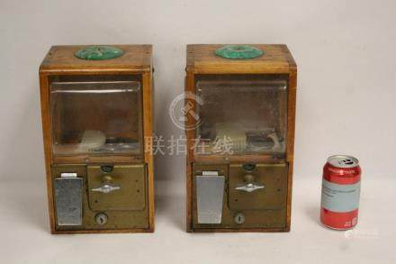 2 vintage candy dispenser machines