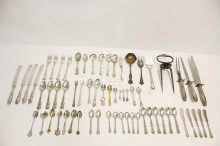 Large lot of misc. silverplate flatware