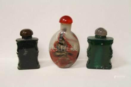3 Peking glass snuff bottles