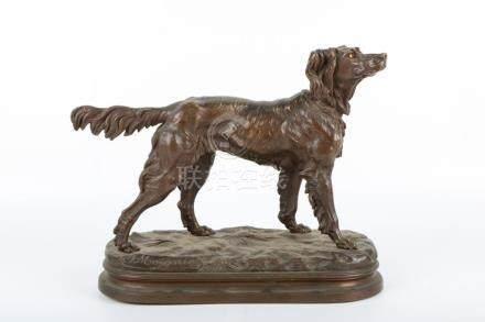 Bronze engraved statue