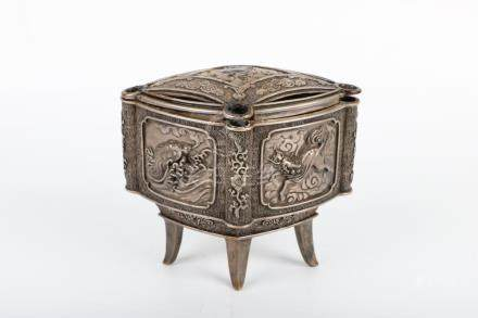 Chinese antique auspicious animal incense burner