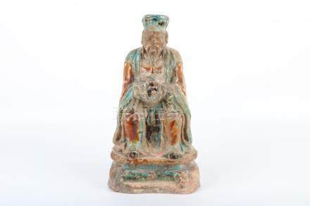 Chinese glass statue