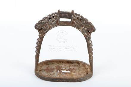 Iron silver gilding holder
