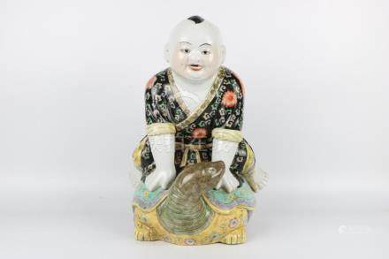 Chinese famille rose statue