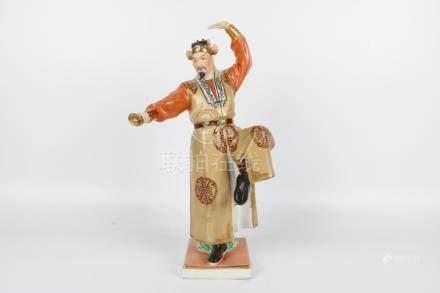 Porcelain figure statue