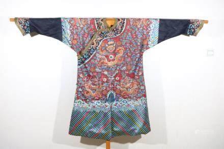 Purple dragon robe
