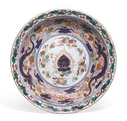 A LARGE IMARI DISHEDO PERIOD, 18TH CENTURY