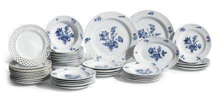 A Meissen porcelain blue and white part dinner service