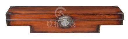 A Chinese hardwood sedan chair document case