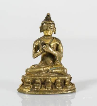 SMALL CHINESE BRONZE BUDDHA