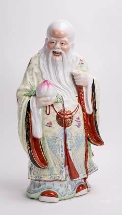 CHINESE FAMILLE ROSE PORCELAIN SHOULAO