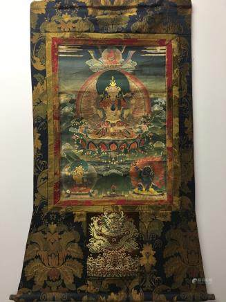 Chinese Hanging Scroll Tibetan Thangka