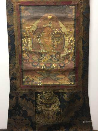 Chinese Hanging Scroll Tibetan Thangka of Manjushri