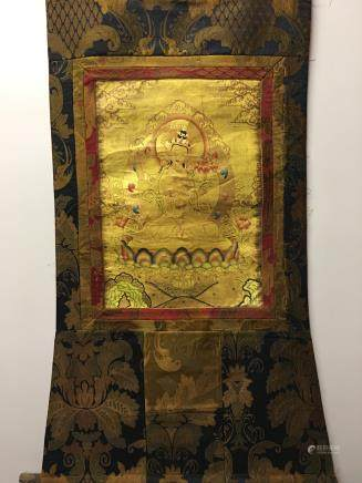 Chinese Hanging Scroll Tibetan Thangka of Vajrasattv