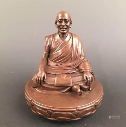 Chinese Bronze Tibetan Lama Figure