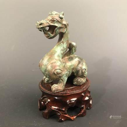 Chinese Bronze Ruishou Figure