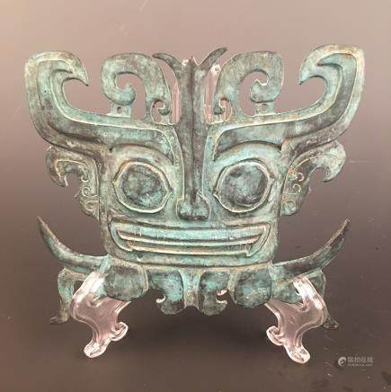 Chinese Bronze Mask