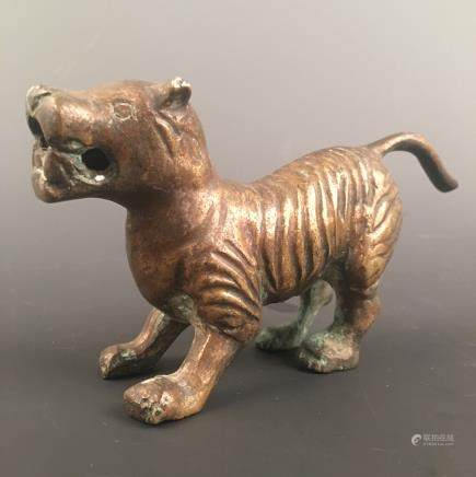 Chinese Bronze Tiger Figure