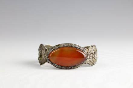 Silver Bracelet with Agate