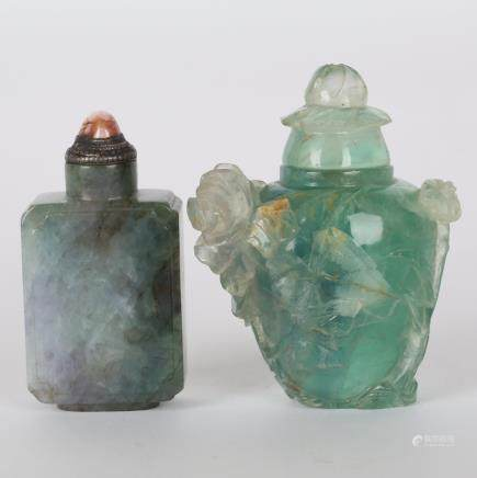 CHINESE SET OF 2 SNUFF BOTTLE