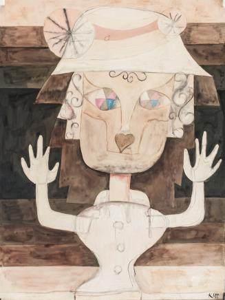 Paul Klee Swiss Modernist Tempera on Paper