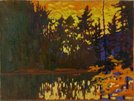 Key. L Oil on Canvas Algonquin Park Canada