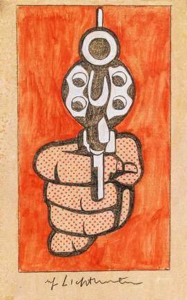 Roy Lichtenstein US Pop Art Mixed Media on Paper