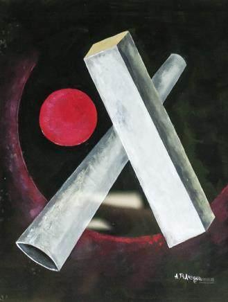 Alex Rodchenko Russian Constructivist Gouache