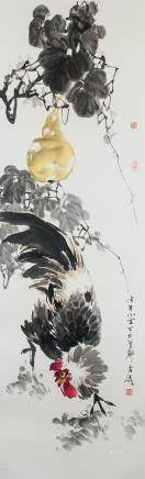 Wang Xuetao Chinese Watercolor Scroll