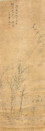 Li Xitong Chinese Watercolor Landscape Scroll