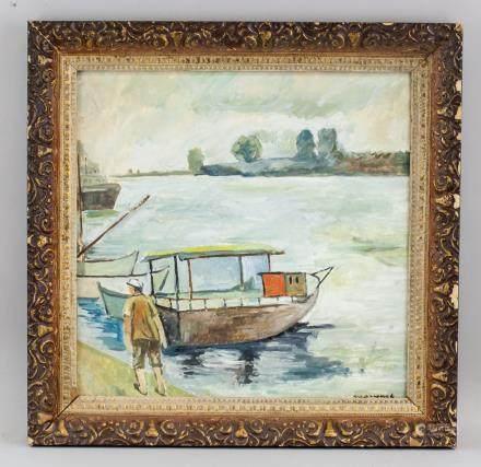 Albert Marquet French Fauvist Oil on Board